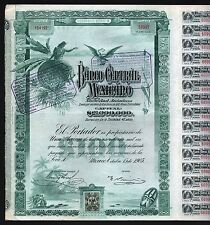 "1905 Mexico: Banco Central Mexicano Sociedad Anonima - ""Blueberry"""