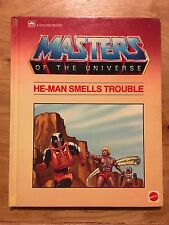 1984 MOTU Masters of the Universe He-Man Smells Trouble Golden Book - Skeletor