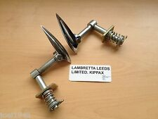 CHROMED SIDE PANEL HANDLES COMPLETE. FOR LAMBRETTA LI SERIES 1 & 2  BRAND NEW