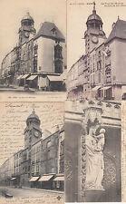 Lot 4 cartes postales anciennes RIOM la tour de l'horloge