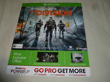 PROMO STORE DISPLAY SIGN XBOX ONE TOM CLANCYS THE DIVISION MICROSOFT 2016 BANNER