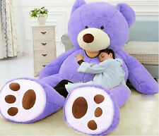 "Giant Huge Jumbo 93"" purple Teddy Bear Gigantic Gift Stuffed Plush Animal Toys"