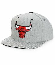 MITCHELL & NESS CHICAGO BULLS GREY CRACKLE SNAPBACK HAT/CAP 100% AUTHETIC NEW