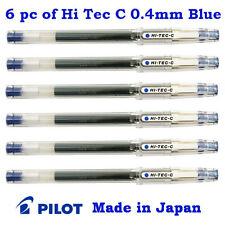 6 pc of Pilot Hi Tec C Pen (Known as G Tec C) 0.4mm Ultra fine tip Bue