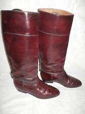 WOMENS VERO CUOIO REDISH BROWN PULL ON LEATHER KNEE HIGH BOOTS SIZE6.5/40(WB465)