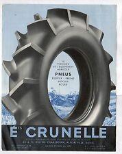 """ALFORTVILLE (94) PNEUMATIQUES & FOURNITURES pour ROUES """"CRUNELLE"""" Tract-Affiche"""