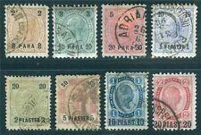 Levante Nr. 20-27 1890 Freimarken gestempelt