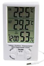 Pro Señal Digital Thermo de interior/Exterior Higrómetro Estación Meteorológica con Reloj