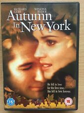 Richard Gere Winona Ryder AUTUMN IN NEW YORK ~ Romantic Drama / Weepie | UK DVD