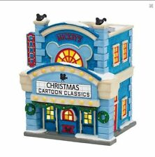 Dept 56 Disney Christmas Village Mickey Mouse Cinema 4038630 Department Theatre