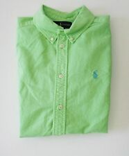 Ralph Lauren Boys Blake Oxford Short Sleeve Shirt Aruba Lime Sz M (10-12) - NWT