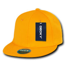 DECKY CLASSIC RETRO FLAT BILL FLEX 6 PANEL FITTED BASEBALL CAP CAPS HAT HATS