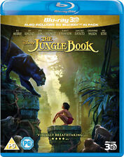 THE JUNGLE BOOK 3D [Blu-ray 3D + Blu-ray] Disney 2016 Live Action Movie Kipling