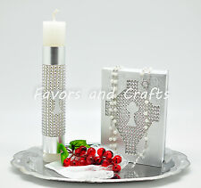 Silver First Communion Candle Set Spanish Boys Girls Gift Vela Primera Comunion