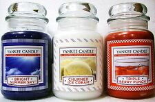 SET OF 3 Yankee Candles LIMITED EDITION~TRIPLE BERRY PUNCH~CHURNED ICE CREAM~ETC