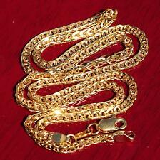 """Vintage handmade 22k 916 yellow gold 18.0""""fancy link chain necklace 12.0gr"""