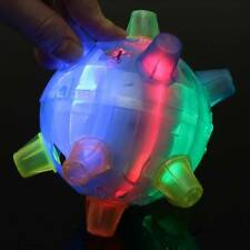 Jumping Joggle Bopper Flashing Light Up Bouncing Vibrating Sound Kid Toy Ball