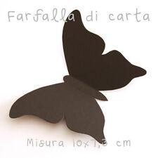 10 Farfalla 3D Nere di carta lavorate a mano 10x7,3 cm
