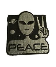Alien Peace Sci Fi Steampunk Novelty Embroidered Iron On Patch