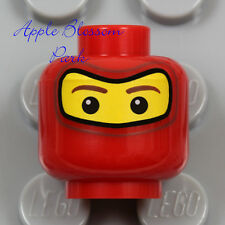 NEW Lego Balaclava RED MINIFIG HEAD - Ferrari Pit Crew Race Car Driver Face Mask