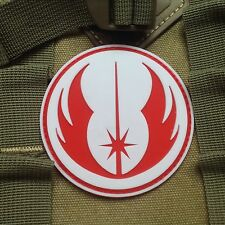 STAR WARS JEDI MORALE 3D MILSPEC TACTICAL AIRSOFT PVC  VELCRO PATCH WHITE