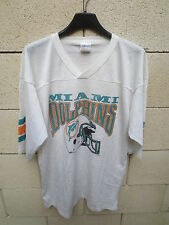 VINTAGE Maillot foot US américain MIAMI DOLPHINS shirt jersey made in USA NFL L