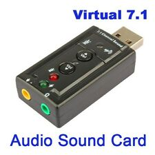 7.1 Channel 3D External USB Audio Sound Card Adapter 3.5mm Jack Stereo Headset