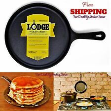 "10.5"" Cast Iron Griddle Camping Fry Lodge PreSeasoned Outdoor Pan Round Skillet"