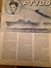 59101 1963 Ephemera Article Pt 109 Cliff Robertson J F Kennedy