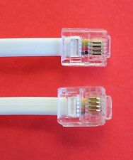 "RJ11 to RJ11 ""15M"" ADSL 4 Wire Broadband Cable White for Router to ADSL Filter"