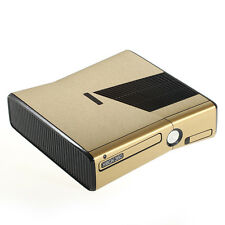 Brushed Gold Metal Effect XBOX 360 Slim decal skin sticker cover wrap