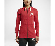 NWT Nike Women's Gym Vintage Full-Zip Hoodie 726057-657 University Red $60 M