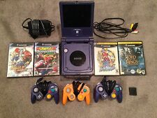 Gamecube Lot Mario Kart Sunshine Sonic W Intec Screen Indigo + 3 Controllers