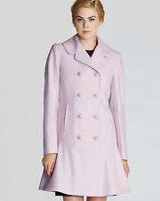 Ted Baker Double Breasted Lilac Peplum 'Vivaine' Coat Size 4 US (Size 1 TB)
