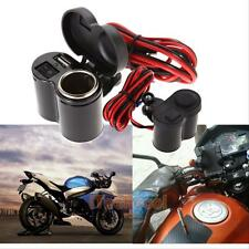 Waterproof Motorcycle Handle Bar Clamp Phone USB Charger Power Cigarette Lighter