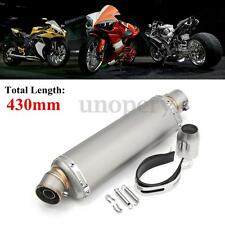 Universal Motorcycle 38-51mm Stainless Steel Exhaust Muffler Silencer Bike New