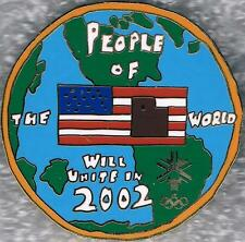 Rare Numbered 2002 Salt Lake City People of the World Will Unite Olympic Pin