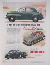 MORRIS MINOR SALOON CAR AD RETRO AUTOMOBILIA 1954 original vintage advertising
