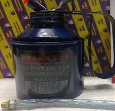 3/4 pinta olio in metallo può con beccuccio flessibile