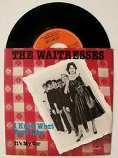 The Waitresses I KNOW WHAT BOYS LIKE new wave anni '80 singolo 45 GIRI VINILE