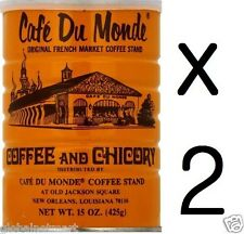 """Free Shipping"" Lots of TWO Cans Café Du Monde Coffee Chicory 15 OZ (30Oz Total)"