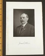 JAMES CROMBIE MELVIN Concord, MA Steel Engraving 1917 PRINT Massachusetts