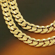 Men's jewellery 14k yellow solid gold GF necklace Noble chain 60cm free ship