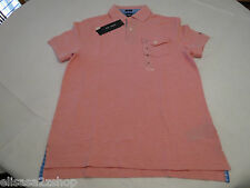 Mens Tommy Hilfiger Polo shirt M slim fit pocket solid 7845162 Quartz Pink 664