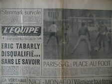 FOOT AFFAIRE PSG VOILE TABARLY SKI STENMARK CYCLO-CROSS JOURNAL L'EQUIPE 1978