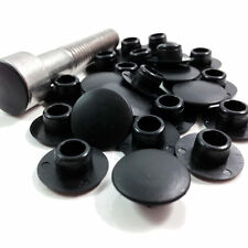 100 BLACK SOCKET HEAD COVER CAPS - For Headway LiFePO4 Cell 4mm hex screw