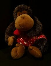 Hallmark Boom Boom Plush Monkey Lights Sound Heart Plush Valentines Day Proposal