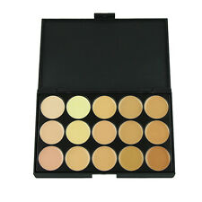 Professional 15 Concealer Camouflage FaceHighlightFoundationCream Makeup Palette
