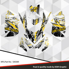 SKI-DOO XP MXZ SNOWMOBILE SLED WRAP GRAPHICS STICKER DECAL KIT 2008-2013 sa0389
