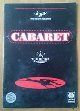 Cabaret programme The King's Theatre Glasgow 2000 T J Stirling Eona Craig